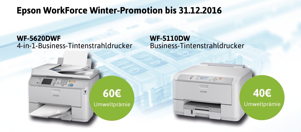 Epson WorkForce Winter-Promotion bis 31.12.2016